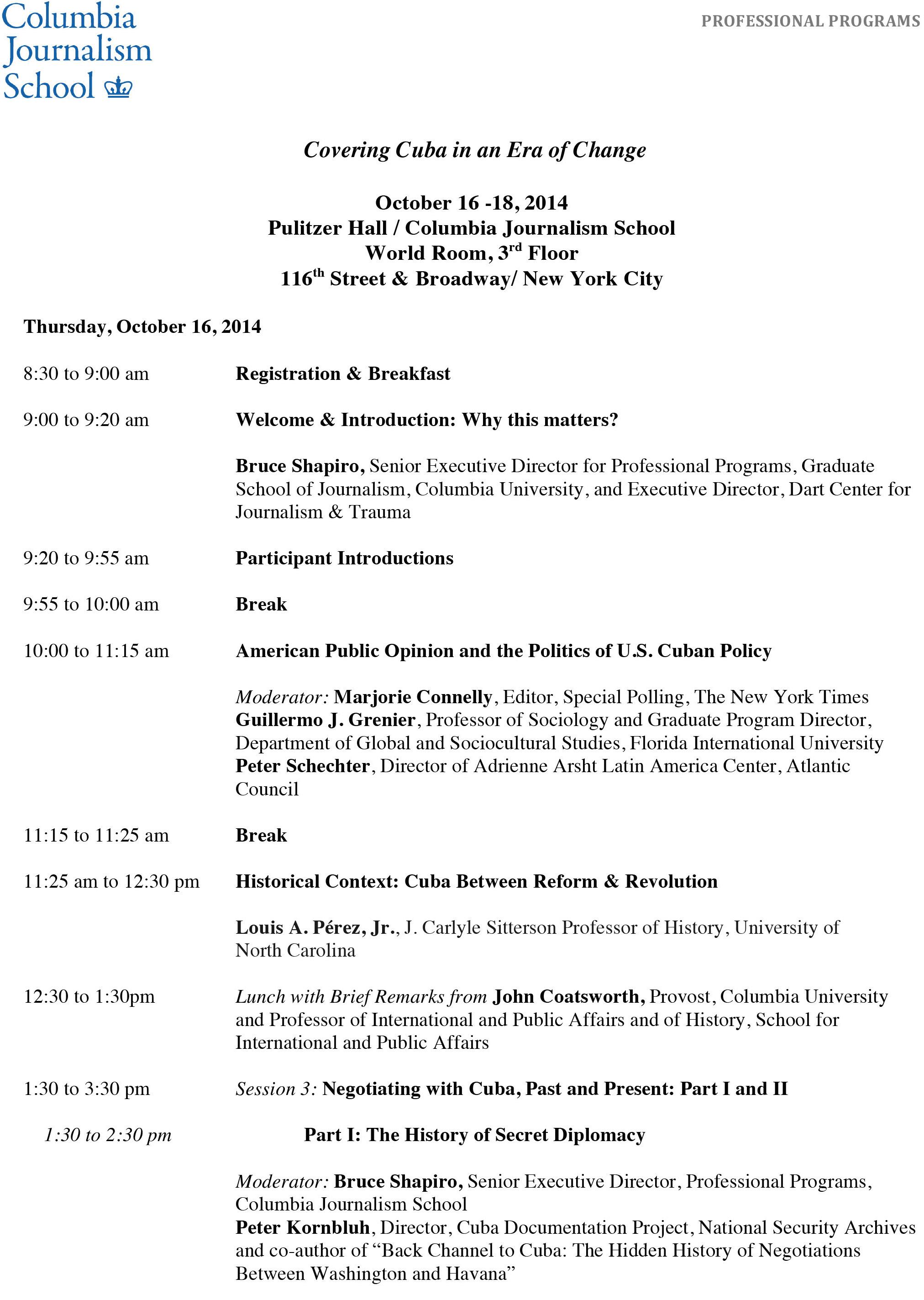 Conference Agenda - Dart Center