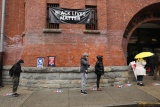 People wait in line to vote at the Brooklyn Armory during early voting on October 28, 2020 in New York City.